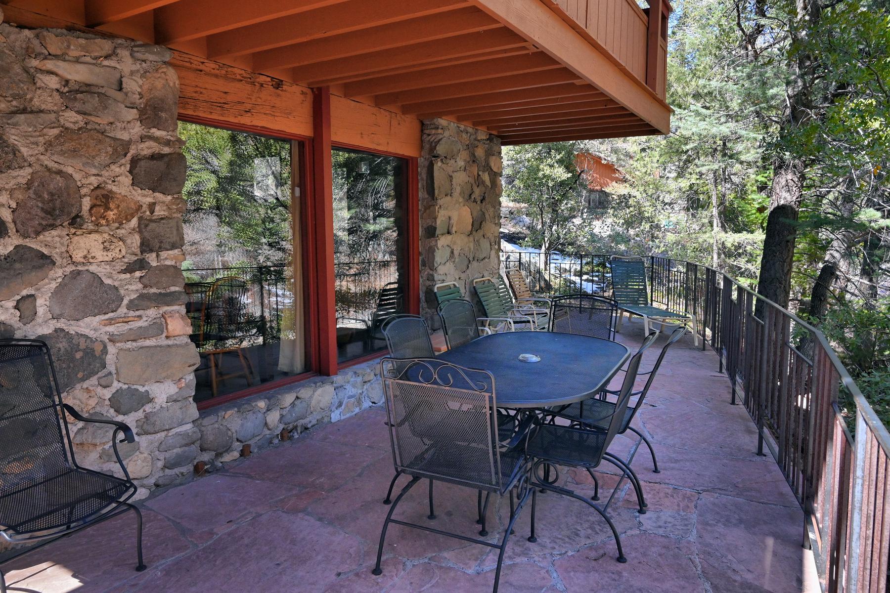 Creek House in Oak Creek Forest House Resort Sedona Downstairs Patio